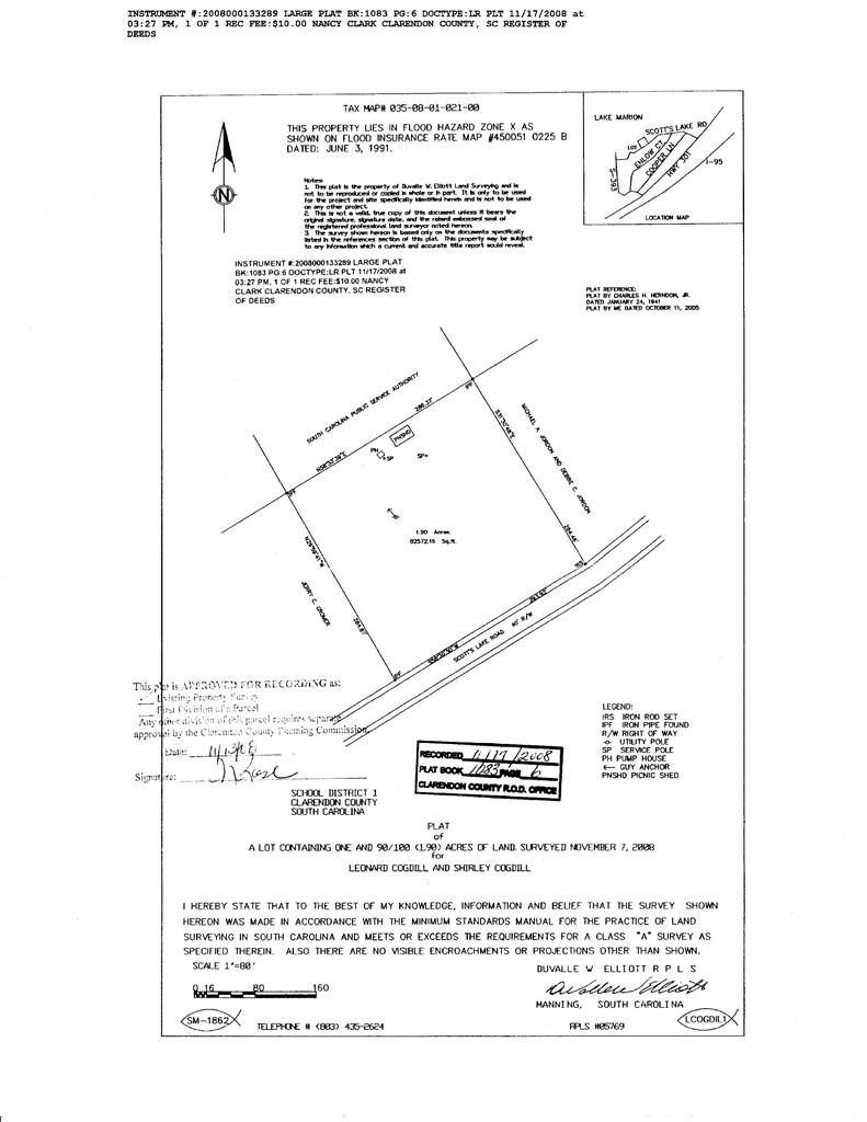 1683 SCOTT LAKE ROAD Summerton, SC 29148