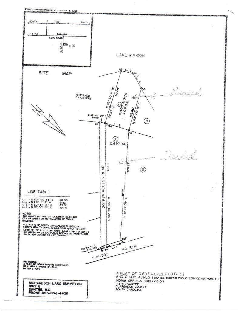 Lot 3 SCOTT LAKE ROAD Summerton, SC 29148