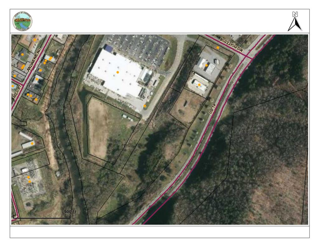 Perfect location for business, restaurant, hotel, apartments, etc! Just off US Hwy 64 four lane and next door to Lowe's, Murphy High School, and a gas station! Tract may be subdivided. Total tract is 9.64 acres. This property is between downtown Murphy and Harrah's Casino; approximately 2 miles from the Harrah's Casino and approximately 2 miles from downtown Murphy! City water and sewer available.
