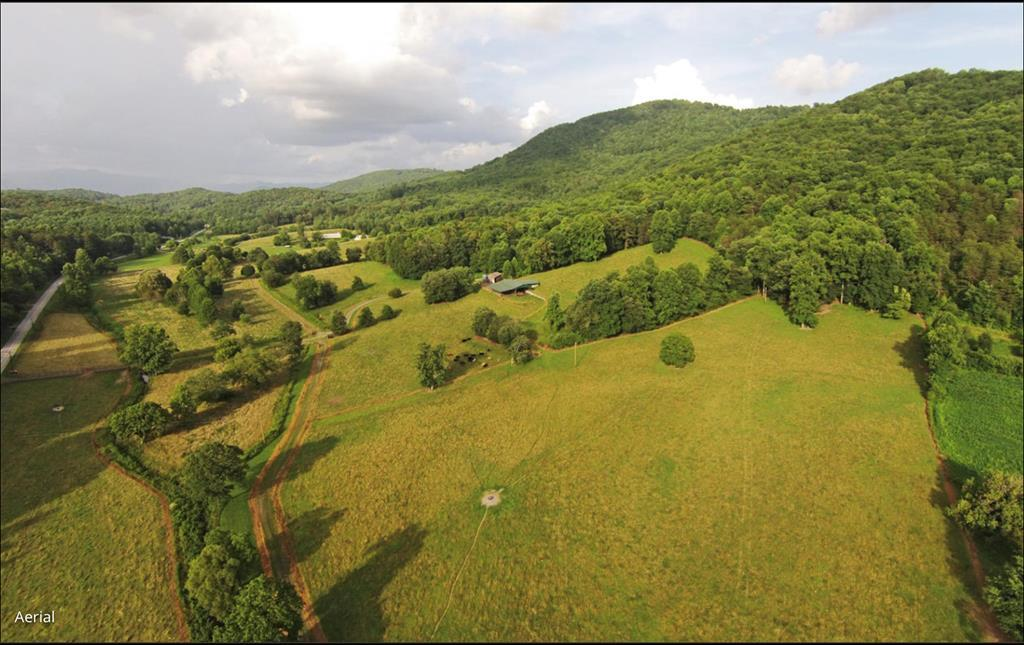 If you love to live off the land, swim in a spring feed pond; hike up to a secluded mountain view;& ride horses,this 350 acre farm has it all. Located in the NC Smoky mountains centrally located to 6 major airports.120 acres of fenced pasture & tillable bottom land;4,000 feet frontage on Crawford creek; 8 fenced in pastures w/ water feeders; spring feed pond; 230 acres of mountain forest w/miles of trails for horseback riding, atv's & hiking. The forest has large Oaks, Poplar & Pines with mountain streams leading up to mountain peak that has 360 long range mountain views.3500d sq ft duplex timber frame house; duplex cottage; large old barn; 6,000 sq ft building/shop & care taker apartment