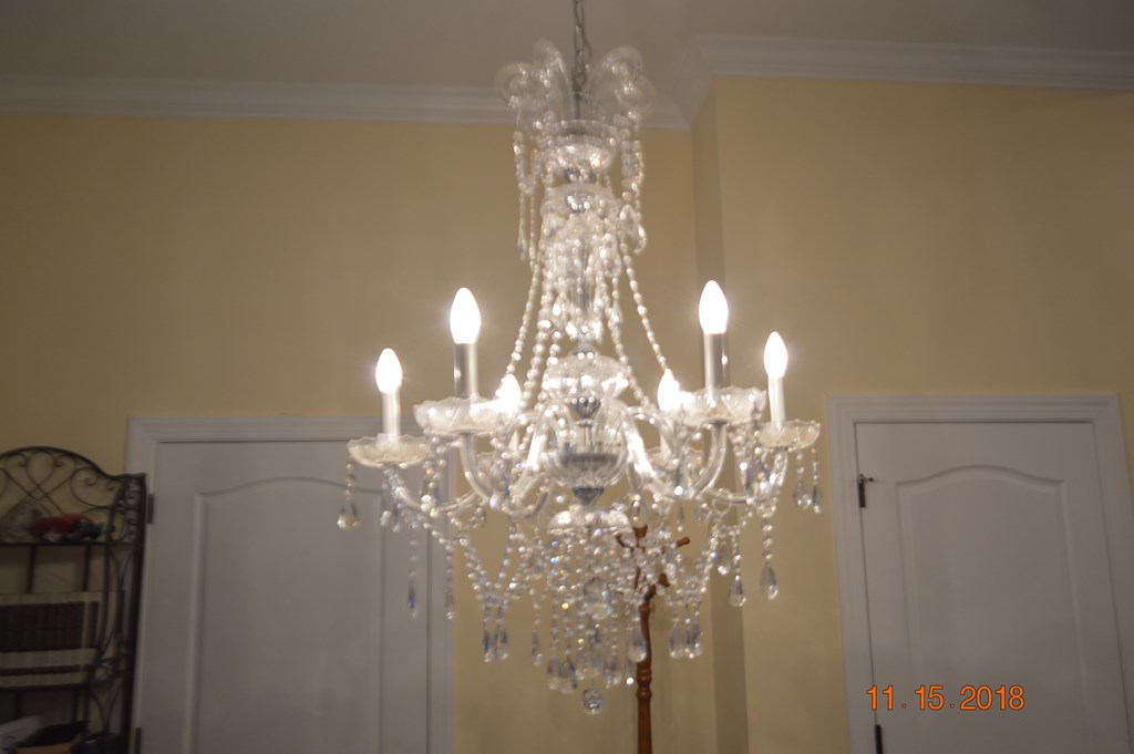 Chandelier In Entry Hall