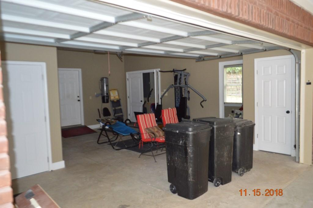 Interior 2 Car Garage