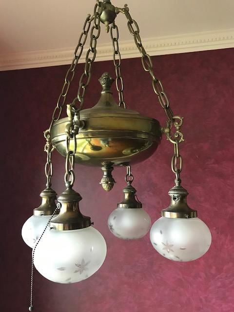 Antique Light in Greatroom