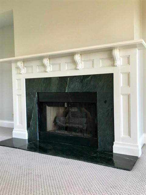 Great Room Mantle and Fireplace