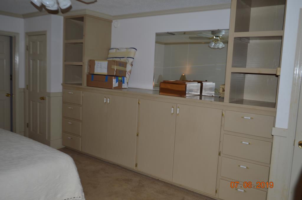Built in Storage Master Bedroom