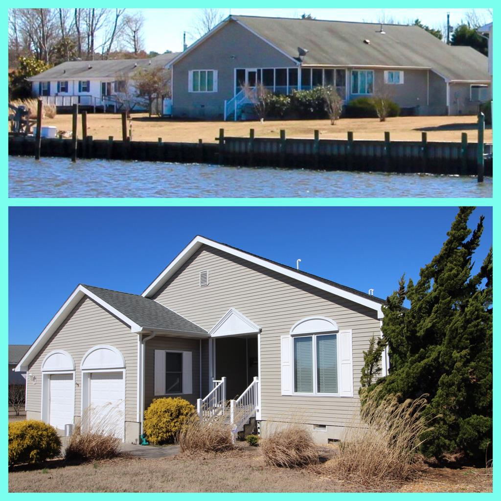 Just 10 minutes from Historic Onancock you'll find one of the most attractive and efficient open floor plan designs that we've seen! Summer Sunset view from the yard, bulk headed, heavy duty boat lift/jet ski davits--deep water and the house is very near the entrance to the canal system for easy navigation to the Chesapeake Bay. --DEEP WATER--The kitchen is nicely done and there are great water views from many windows and the Master Bedroom! The large 14'x20' screen porch is perfectly situated to take advantage of bay breezes and views of the water! Perfect condition and is situated on the cul-de-sac for minimal drive-by traffic. large gar. w/plenty of room for storage, a boat and a car! Community boat ramp just around the corner! Waterfront living at its best! Meas. & sq. ft. appx.