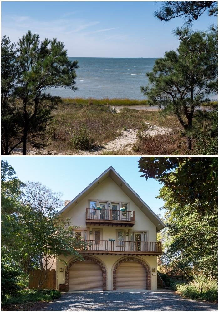 1.16 AC dream home on the bay is waiting! Just a few steps from the upper deck awaits your private sand beach with expansive views of the Chesapeake Bay; nestled off Hungars Beach Road is a beautiful 3 level slice of paradise directly on Chesapeake Bay! This 4 BR/3.5 Bath has bay views from the open floor plan which includes family room, dining room and kitchen.  Fabulous cooks kitchen with quartz countertops and brand new stainless steel appliances!  Gleaming hickory hardwood floors throughout main 2nd level.  Youll love the expansive deck equipped with hot-tub and fire pit.  A huge master suite offers relaxation, comfort and a private balcony to enjoy your morning coffee.  On the 1st floor youll find the mancave/in-law suite/guest suite equipped with its own bedroom and bathroom.