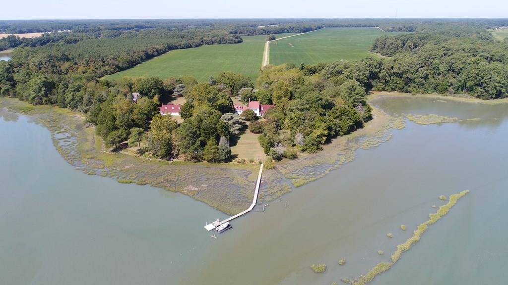 The Folly, circa 1749 located on Folly Creek with an estimated 3,400 of water frontage on 215.ac is now on the market.  This property has been in the same family for over a 100 plus years, so an opportunity like this only comes along once in a life time.  Are you going to be the buyer that is not going to miss this chance to own a piece of history of the Eastern Shore dating back to the American Revolutionary War. This property served as entrance to the Harbour at Accomac. This property was been protected with a Conservation Easement in 2004 and remains in place today.  This historic home place has so much potential along with all the scenic waterfront, with all the wildlife, water fowl and more to observe. Please be sure to see the 3D tour on site, it is just like walking through the home