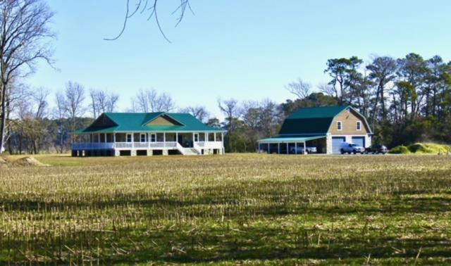 Ultimate 225 acres of Duck Hunting w/3Miles of waterfront on deep Pitts Creek. Wildlife abound, deer, ducks, and geese Barn is 46X26 Could be your horse farm. Some of the best soils. Two parcels  Two homes included. 2019 New contemporary beach home is packed with every extra you may want. Huge open living area leads out to the complete wrap around porch. Pick your spot. Custom wood working. Tile in bathroom of owners suite. Finished upstairs is length of home. Quality craftmanship is displayed throughout. North Carolina Blue Stone is a natural look for home and huge barn, custom vents and steel beam give it the ultimate in Dcor and solid construction. Rent older 4 BR home to hunters that embodies all the duck hunting on the Eastern Shore you can stand. Note-Agent remarks.