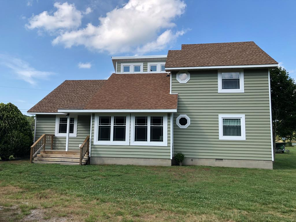 This beautifully remodeled waterfront home is located on Finney's Creek just outside to the town limits of Onancock.  The creek has direct access to the Chesapeake Bay and a few minutes boat ride to the Onancock Wharf.  Many upgrades have been made to this 3 bedroom, 2 bath home including new windows with azek bordering, new siding and decking, new HVAC, and full remodel of the owner's bath/walk-in closet.  The home boasts plenty of natural light through the many skylights and panoramic views of the creek from multiple rooms in the house including the owner's suite.  Come enjoy relaxing and fishing right off of your own private dock.  Located just a few minutes from the state of the art Riverside Shore Memorial and all the quaint shops and restaurants in Onancock.