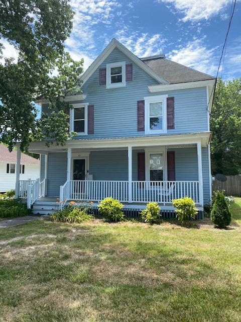 Looking for a spacious family home in the heart of Onancock?  Look no further.  52 Kerr Street offers 4 spacious bedrooms and 3 full baths spread over 3 levels.  Plenty of room for everyone!  Fenced back yard.  Wave to your neighbors from the covered 28 x 7 front porch while relaxing on your swing.  Third floor features owner's suite with full bath and ample storage.  Enjoy the charm of old town Onancock while being near the medical facilities and commerce of Onley.  Convenient to Hwy 13, Wallops and Chincoteague Islands a mere 30-40 minutes to the North.  Measurements are approximate.