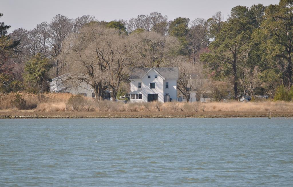 This is a rare treat. A 3 bedroom home on just shy of 4.5 acres of waterfront on Chincoteague. One large lot and one smaller lot. Downstairs includes two screen porches, recently remodeled kitchen, living room, bathroom and a bonus room. Upstairs includes three bedrooms and a full bathroom. View the water from all of the eastern rooms. Third story includes a dry attic. 1 septic on the main lot and another septic on the additional lot.  Potential exist for expansion, subdividing, or other improvements. Walk out to the water and fish and crab from your own property. Successful vacation rental. Furniture conveys. This property does not disappoint. The photos on this just does not do this view justice. In the last few years the home has a new roof, new HVAC, upstairs bathroom, carpet, & deck.
