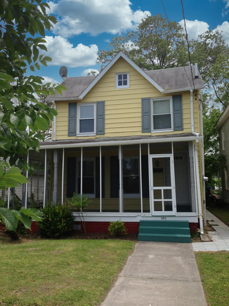 """Playhouse"" is a quaint 2 story beach cottage( circa- 1930) currently used as a vacation rental. Improvements include central air &heat (efficient mini split system) & new kitchen & bath. Original pine floors have been painted. Screened front porch is perfect for enjoying summer breezes & relaxing w/ loved ones. This home is move in ready!! This cottage makes a charming vacation rental or second home at the beach. Conveniently located on Jefferson Ave Ave just 5 blocks to the beach. Close to beach, marinas, restaurants, shopping and town park. Cape Charles is a golf cart friendly town. Generously sized backyard could easily accommodate an addition or back deck. Alley access is rear is great for off street parking. Plenty of room to do a accessory dwelling unit/ garage with private parking."