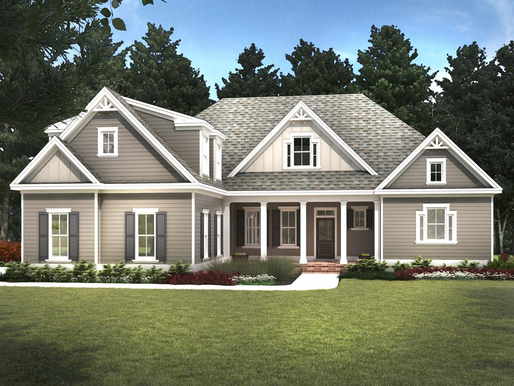 This fantastic multi-generational home is now under construction along the Arnold Palmer Signature course. The Laurel Park plan, created by Beacon Homes in the Coastal Craftsman vernacular, is a 3,446 sq. ft., 4-bed, 3.5-bath residence with wonderful spaces for gathering with family. Enter through the covered front porch and into a foyer that opens to large dining and family room spaces. Be drawn to the 10 ceilings, 6-in wide-plank hardwood flooring, and a craftsman wood trim package. The large kitchen, with quartz countertop and custom cabinetry, opens to a private screened porch. The owners suite features two walk-in closets and a luxurious bathroom. Also on the main level are two additional bedrooms. Upstairs, a bonus room and large fourth bedroom mean guests can be accomodated.
