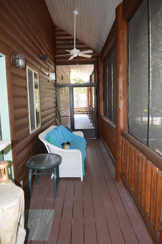 screen in porch area-sitting area enclosed