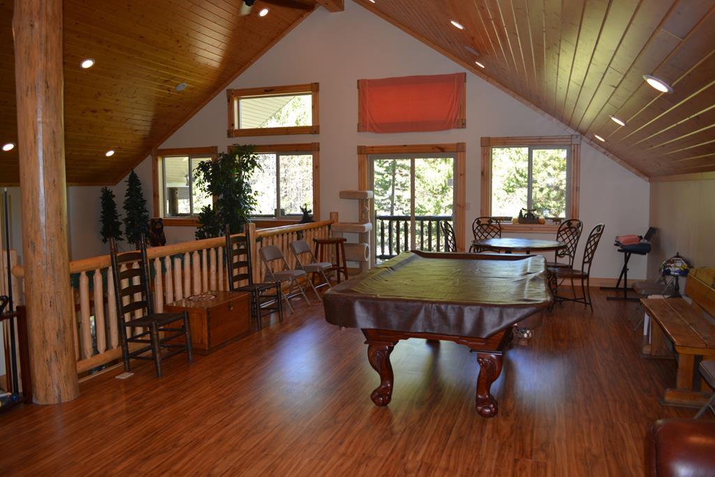 upper loft pool table