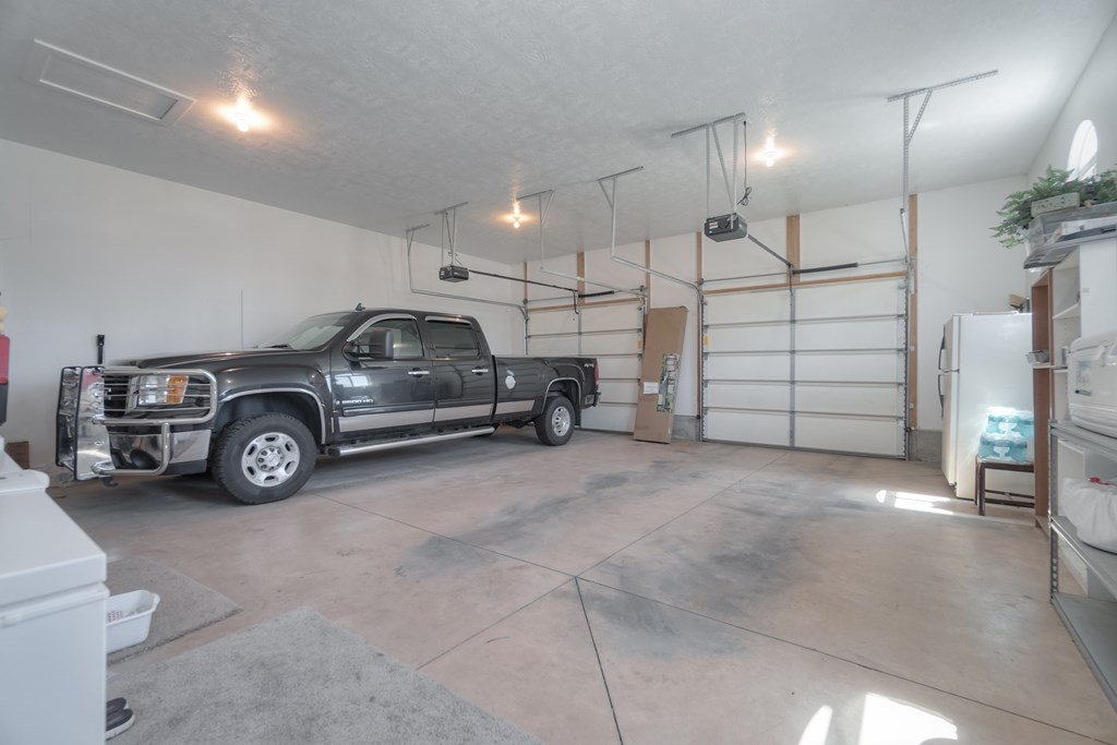 Large 3 car garage