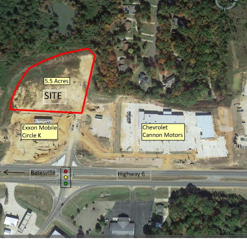 5.5 acre Highway 6 West @Thacker Rd North, OXFORD, MS 38655