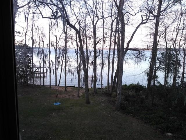 view from covered back porch