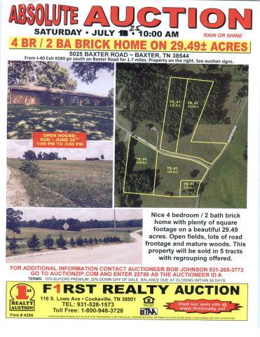 Real Estate for Sale, ListingId: 34009197, Baxter,TN38544