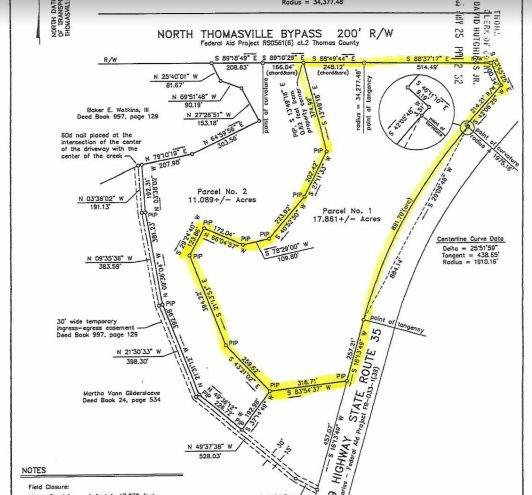 Thomasville Georgia Map.0000 Us Hwy 319 By Pass 18 Acres Thomasville Georgia Ga