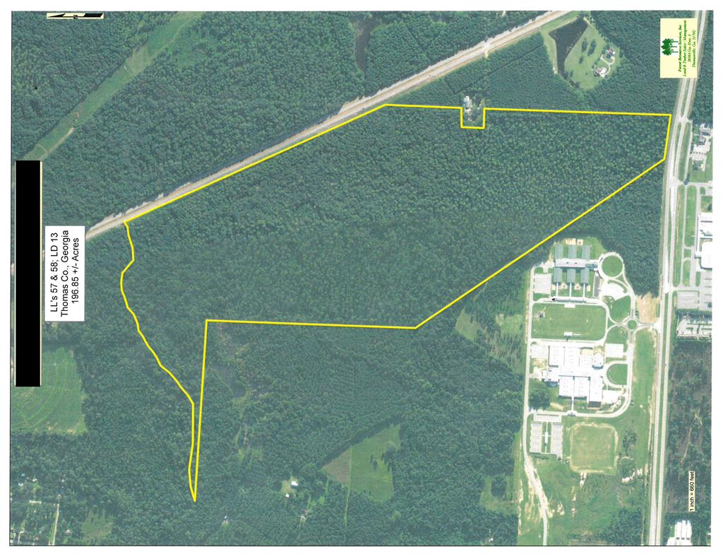 Super Development Property! 2800+/- feet frontage on Hwy 19 and 300+/- feet frontage on Hwy 84, 319 Bypass. Adjoins Thomas County School System Property. Please call listing agent for showing information.