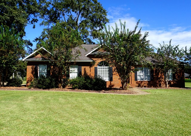 Located in Shallowbrook Farms, this brick home is convenient to downtown Thomasville while only a short distance from Tallahassee.  Features include an open floor plan with formal dining room, great room with gas fireplace, three bedrooms, two and a half baths and a home office that could be used as a fourth bedroom. The kitchen and master bath have been updated and the interior of the house has recently been painted throughout.  Outside this beautiful home you will find a large deck overlooking the saltwater pool, large storage building and fully fenced back yard.   Well maintained and move in ready!
