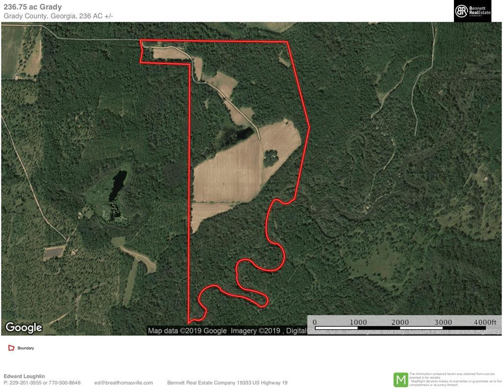 Pine Hill Farm is a sportsman's hideaway abundant with doves, deer, turkeys, and ducks located in southern Grady County just north of the Florida/Georgia Line. Over 1.5 miles of river frontage on the Ochlockonee River, 65 acres of income producing crop land, 3 acre duck pond, and established food plots. Mature pines and hardwoods. Established interior roads. Excellent cabin sites with electricity run into the middle of the property. Deep water well, multiple barns, two grain bins. Pine Hill is neighbored by large land holdings that consist of like minded recreational and timber properties in the heart of the Red Hills Region.