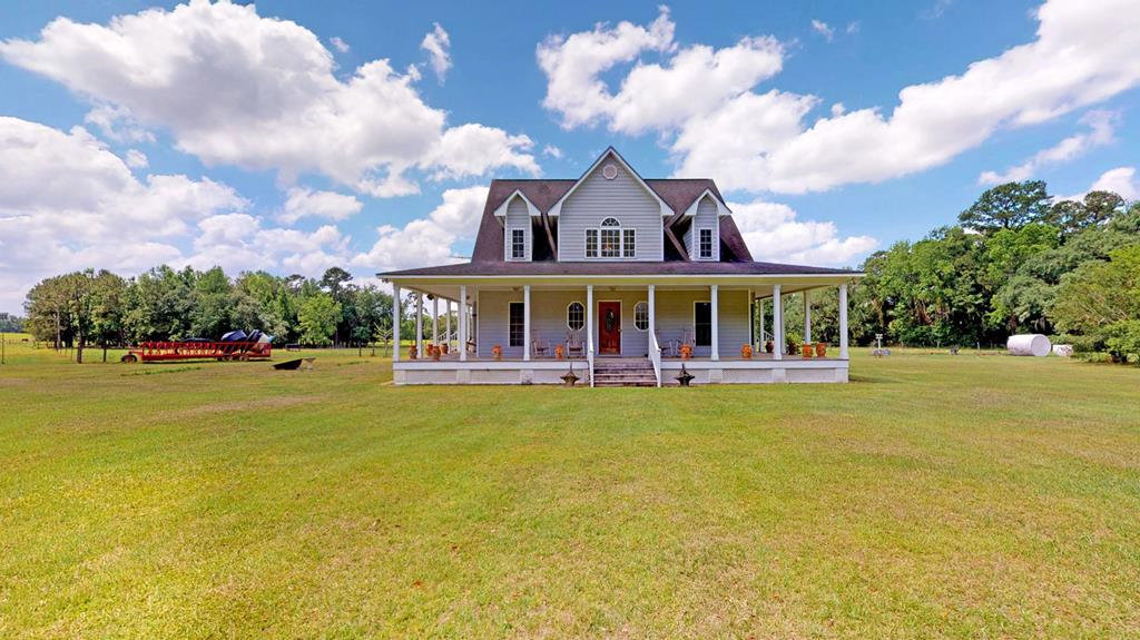 This majestic turnkey property includes 2 homes;it sits on 86.63 acres and is perfect for livestock,hunting,or a lab tract.Located in Thomas County,youll love this southern down-home atmosphere just a short drive to Thomasville.Drive down the scenic lane past the guest house to the custom main house with wrap around porch overlooking the pond.The first thing you notice about this house is the picture-perfect scene straight out of southern living;but that is only the beginning.Inside you will find brand new oak hardwood floors,an open and airy floor plan,3 bedrooms/2 tiled bathrooms,and views that money cant buy.The guesthouse on this property isnt your average mother-in-law suite;its 2,368 sq. ft. and 4 bedrooms/2 bathrooms,making this perfect for a family member to live in or friends to relax in when they come to visit.Property features include a beautiful and size-able pond,moss covered live oaks,and improved pastures for grazing. It has been fence and and has mature fruit trees.
