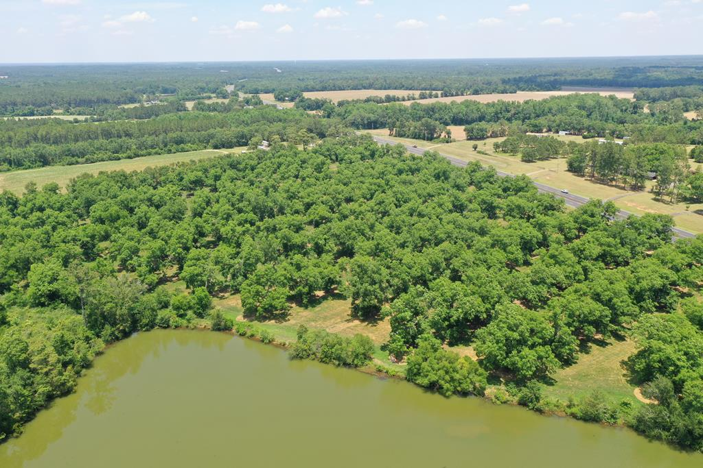 """IRRIGATED PECAN ORCHARD -DESIREABLE VARIETY  (22"""" +/- Diameter Trees)  4= well on timer.  1,100'+ Road Frontage on US Hwy 319.  6+/- Acre Lake....Property LIne to Center.  Older Survey Available.   Unlike most pecan orchards, this tract has strong development value in that it can be divided, is water front, and can take advantage of a strong Thomasville/Thomas County Residential Market.  Most orchard are one dimensional.  The perfect property if you want to build a home on the water and have a small first class irrigated orchard to manage,and a place to fish and watch the sun set.  Great retirement tract with still something to do.  Room for several homes without re-zoning.  Property recently enrolled in AG Covenant so penalty not so harsh if new owner wished to divide  in lots.  Excellent Fish Pond.  Attractive Property.  Tifton and Dothan S are the predominant soils.  Some wooded area behind dam with some harvested areas.  Good deer and turkey area.  7 miles North of Thomasville."""