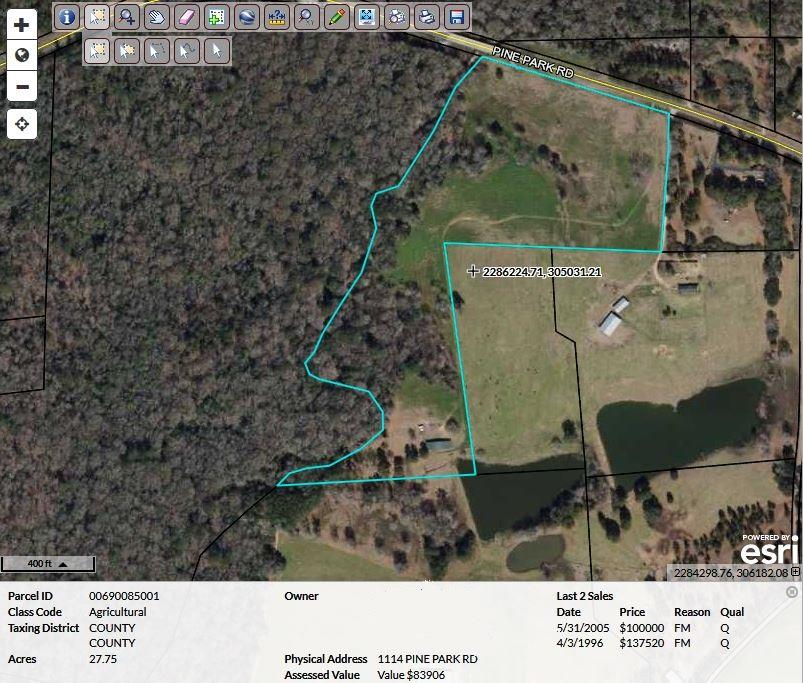 This property has already been surveyed and set up in lots. Property has a 30 x 112 building for storage and equipment. If you're looking to start a subdivision or just for acreage, this is your property. Call today for more details.
