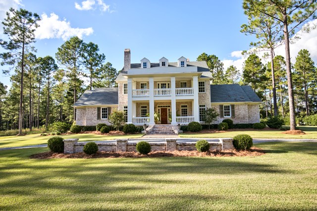 If you have every dreamed of living in a classically styled, traditional southern home in the Heart of Dixie, this is your opportunity. Terrepin, which is the French translation of Land of Pines, is situated on 50+/- acres in Dixie, Georgia. This beautifully crafted 4 bedroom, 5 bath, 2 half bath home features wonderful architectural styling throughout the interior and exterior. Details include custom moldings, old growth heart pine flooring, expansive French doors, pecky cypress accents, and custom build-ins to name just a few. The exquisite kitchen has professional grade appliances, marble counter tops atop custom cabinets and opens to a comfortable den with exposed pine beams and fireplace. More formal living spaces are contained in the gracious living and dining rooms while a private study serves as a home office and gunroom. The outdoor living space creates a sanctuary like environment that overlooks the beautiful piney woods with an outdoor fireplace.