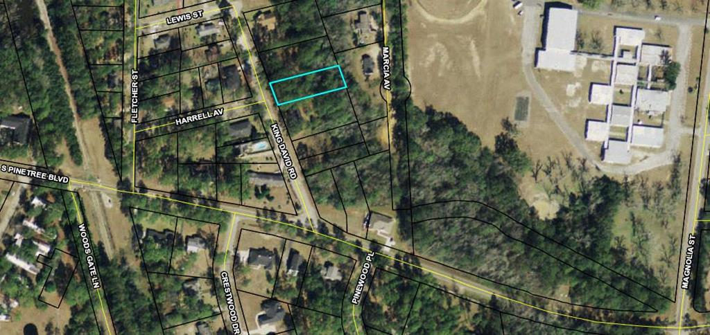 Looking to build?  Established in town neighborhood, lot is currently wooded.