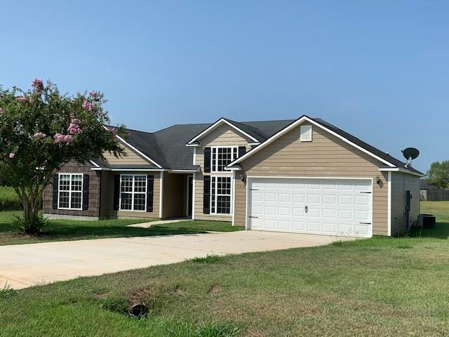 Come enjoy the countryside in Southern Pointe subdivision! This 3 Br/2Ba home sits on almost an acre only 8 miles from town. Home boasts trey ceilings, beautiful custom cabinetry with granite counter tops, carpet & tile flooring, covered back porch and a 2 car garage. There is also a very nice master bathroom with walk-in double shower and separate luxury tub. House has just been redone new carpet, new paint new  plank flooring Call for appointment today.