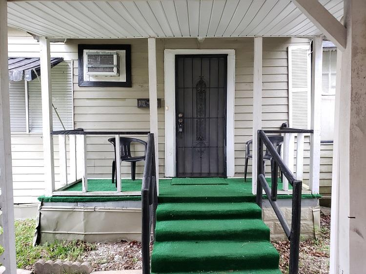 Check out this affordable 3 bedroom 1 bath with a new roof and a huge fenced-in yard. Home has hardwood floors throughout, eat in kitchen, and large laundry room. Double carport in the rear and small storage building is included.