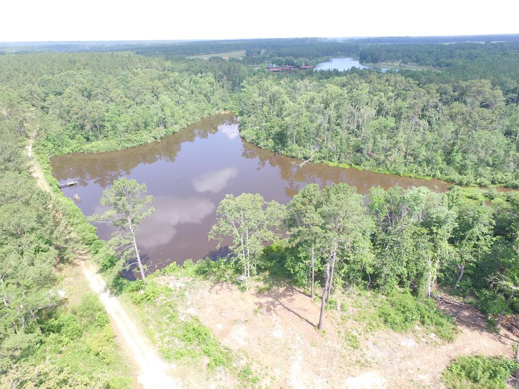 Tremendous Game rich 110 acres well designed and built  Main and Guest Cabins!  5+/-  Acre manged fish pond, Big Pine Timber, Hardwood  Bottoms with Hickory and White Oaks.  You like to quail hunt?  This property is next to South Wind Plantation...be their guest!   Multiple stands and numerous feed plots.  Good neighbors with big woods.  Main cabin has stone fireplace, spacious kitchen with stainless steel appliances, two bedrooms, two baths and a  big open great room with lots of windows!  Need a little privacy try the guest cabin with full Bed and and Bath.  This cabin is wonderfully detailed from the antler chandelier to the out door shower!  With 110 acres of  Hardwood and Pine Timbers,  pond and creeks, feed plots and stands......you can get all the diesel therapy you can stand.  You can do your scouting from the dinner table just by looking out the windows and counting the deer and turkey!  This tract is that good!   Huge Pole Barn with utility room for your tractor and tools.