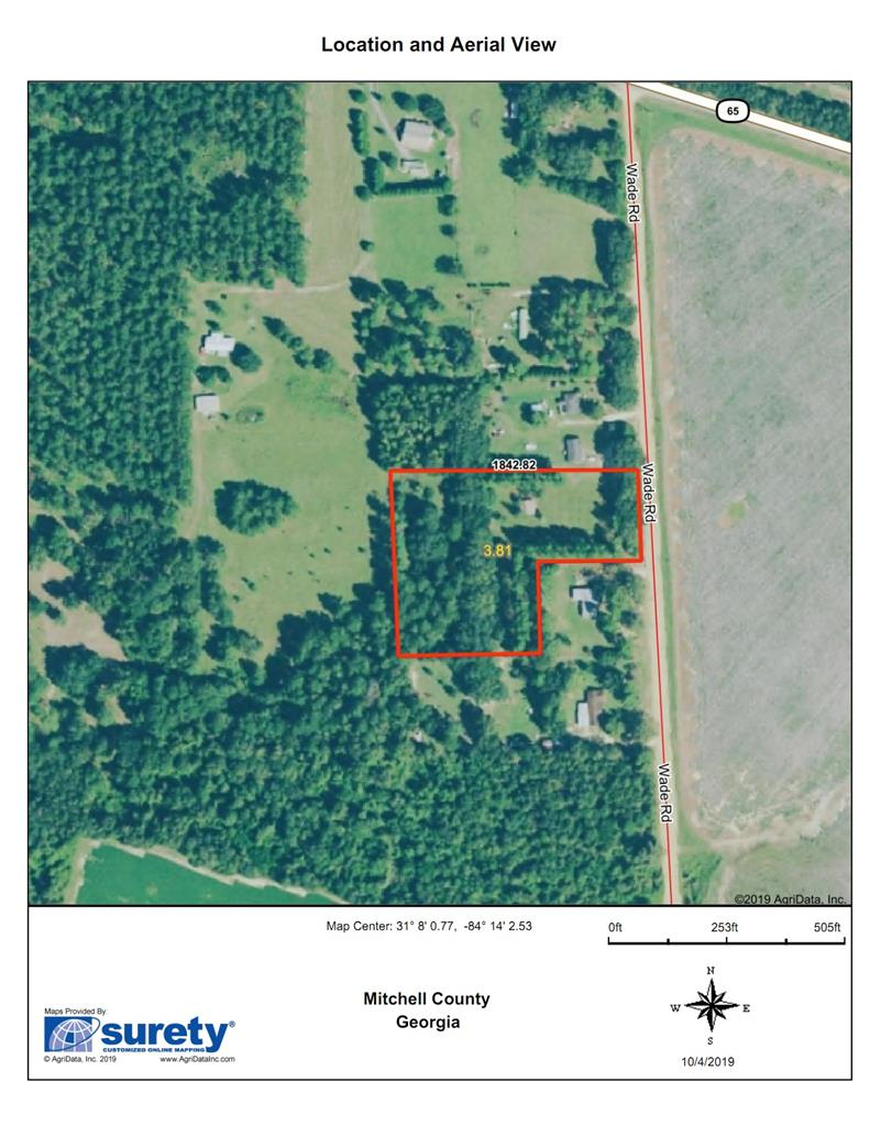 The perfect size tract for your new home, 3.81 acres about 5 miles from Camilla or Pelham.  The soils are Tifton and Norfolk both are well suited for residential use as with any use.  Plenty of room for your horses or any outside endeavors.  Located on the property is a tin sided barn, 28' x 24' with a 8' x 8' garage door and entry door with electricity.  The zoning will allow manufactured homes.  The tract is open field in front and wooded towards the back.