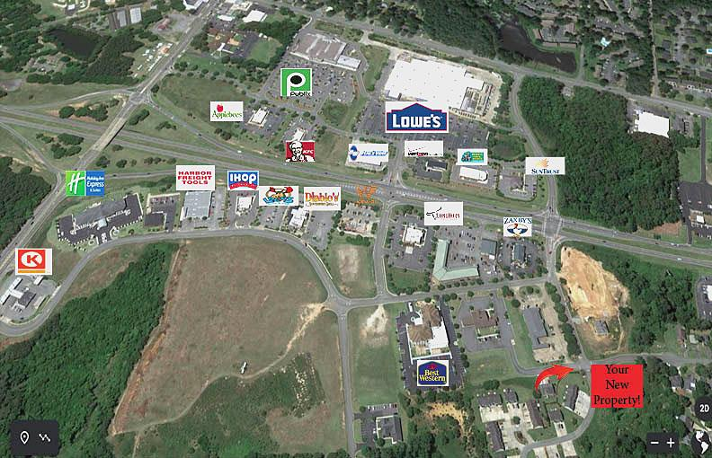 Development opportunity just outside of Thomasville City limits.  Underground utilities in place,  nice location and potential. Zoned commercial General.  BANK OWNED