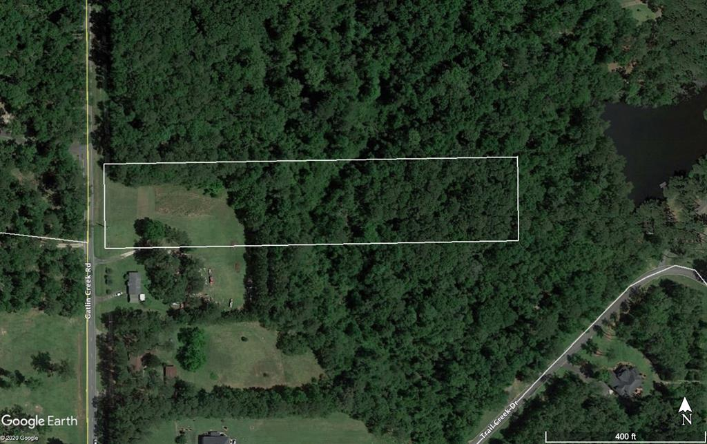 Gatlin Creek Road - 5 Acres.  It is a rare find to get a small undeveloped tract this close to Thomasville.  The front acre of so is cleared and the remaining acreage is wooded with a creek running thru it.  (209 ft wide x 1044 ft deep)