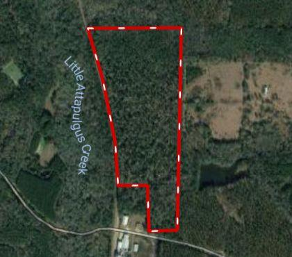 Post harvest timber tract.   Property will need driveway access off of Millwhite Road pushed in.  High Canopy Hardwood home sites between Millwhite Road and the creek.  Wonderful elevation drop and change overlooking clean forest floor down to creek.  Timber has not been harvested on  South side of creek.  There may have been a home site on Millwhite road frontage.  Always be careful when showing.  North of Creek has been harvested with good seed trees left and plenty of acorn producing Swamp Chestnut Oaks and Magnolias.  A little forestry commission firebreak work and a brush cutter would go a long way on this tract.   .  Good Wildlife/Home Site Tract.  Great Roll off of hillside.    Just South of Southwind property.  Good deer and Turkey Area.  North line has been surveyed. 1,313' on North Line.  East and South property lines are land lot Lines (135) with the corner building parcel taken out next to RR.  Interactive Map LInk Available.    Property in Conservation Use/AG Cov