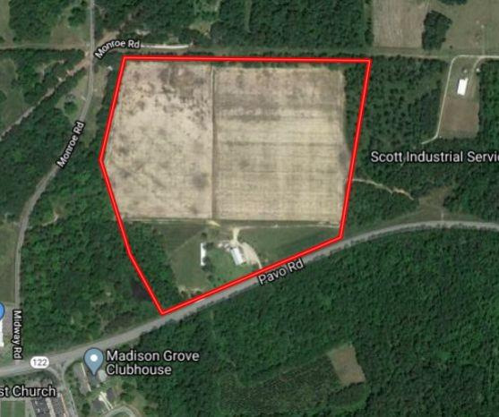 """Large 51Acre block of land suitable for re- zoning for further commercial and residential development.   7070 GA DOT 2018 AADT Traffic Count.   5 Lane GA Hwy DOT Frontage  Center turn lane is key.   Commercial Building of 5,280 +/-  sq ft under roof per tax record....    Property currently leased  month to month.  Ag field leased to local farmer.  Suitable for irrigating with 8"""" well on property.  No pump just casing.  City water nearby. Suitable for division.  Ag Related business would work well.   Property has AG and Commercial General Zoning.  Excellent Tifton and Dothan soils  Level Ground with very little site work needed.  Grape Arbor and other improvements   Compare price and utility with other similar available blocks of land on the market.  Property in county but check with city for letter of availability regarding utility services available for your specific use.  The Southeast is still king and Thomasville will continue to grow. 3 Large Coolers    2.713 Acres CG"""