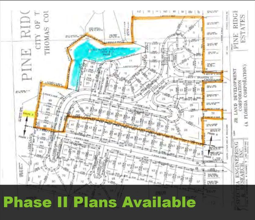 INVESTORS!  Here is your chance to build in a residential development in the city of Thomasville. Begin constructing and selling homes in this much-needed affordable housing area.  Beautiful wooded lots around a small,secluded and tranquil lake.