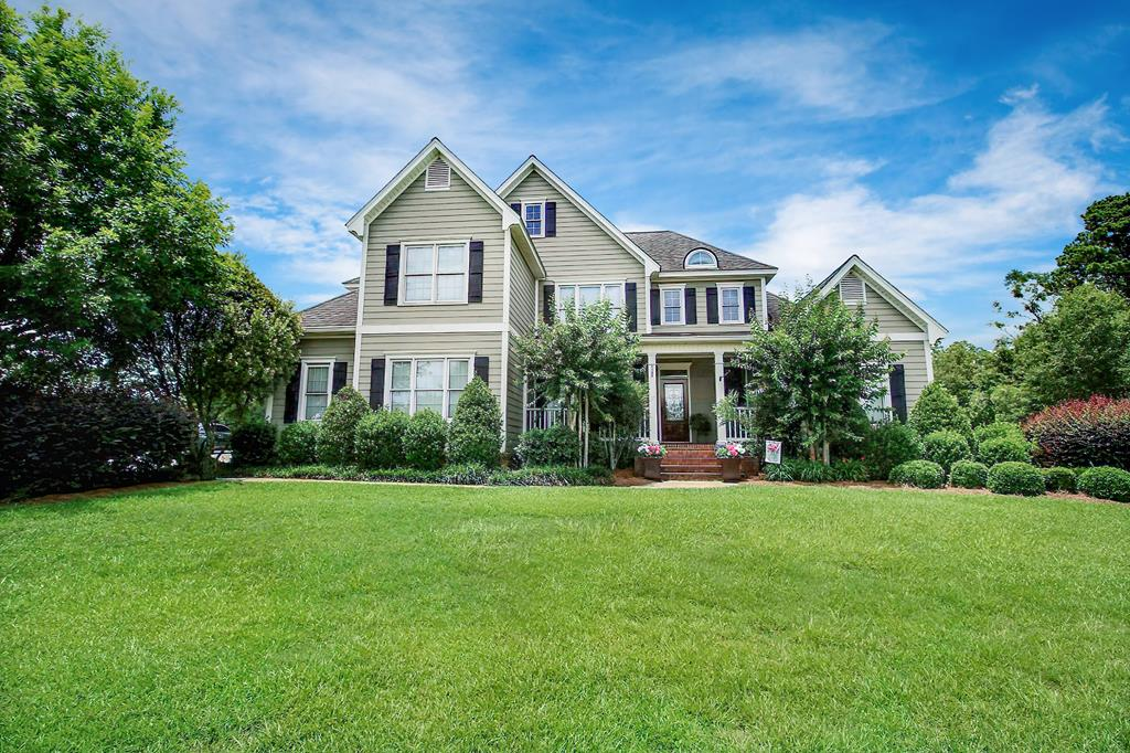 Located in one of Cairos best subdivisions, Hawthorne Trails, this custom built 4 BR, 3.5 BA home sits on over 2.7 acres and contains approx 3,700 sq ft. Downstairs is a 2 story entrance w/ hardwood floors, dining room, large family room w/ vaulted ceilings & French doors leading to a screened porch. Open, modern kitchen w/ stainless appliances, granite counter-tops, & breakfast room connected to a spacious den. Laundry room has utility sink, shelving and doubles as a storm room w/ steel door & re-enforced, sound proof walls. Master suite has trey ceilings and luxurious bath w/ custom shower, separate tub, & custom built-ins in closet. Lots of windows & light downstairs. Upstairs has 3 BR/ 2BA, all w/ walk-in closets, bonus room, & storage closet w/ floored attic space. Nice deck overlooking swimming pool. Separate shop has 1 car carport, concrete floor, roll-up door, work bench, peg board & attic space. Private back yard. Irrigated. Call for showing. Needs an appt.