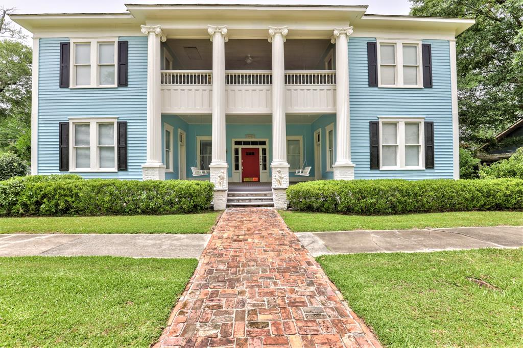 Own a piece of history!!  Known as one of the oldest homes in Historic Downtown Quitman, you will love this restored Greek Revival home built in 1867.   This historic masterpiece awaits you. Loaded with character, 8 fireplaces, trim work, nice lighting and more.    Large front porch and 2nd floor veranda! Heart pine floors! Don't miss this opportunity!!
