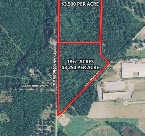 Good looking home site tract with 18 Acres....good roll, big mature pine, excellent soils map.  GA 3 paved road frontage and Millpond Road Red Clay Road frontage.  Super private home sites in these woods.  Not restricted.   Deer and Turkey in the area.  Firebreaks on property for easy viewing.  Additional land available  up to 35 acres total.  Seller dividing.  Survey will need to be updated.  Northern parcel of 17+/- Acres also available for $59,500 per acre.  Property suitable for multiple homes.  Your really have to get out on the property and walk the firebreaks.  See drone video.  This is good looking land.  Soil maps don't lie!    Just north of Pelham  and super convenient to Hwy 19 for getting back to Thomasville or heading up to Camilla or Albany.