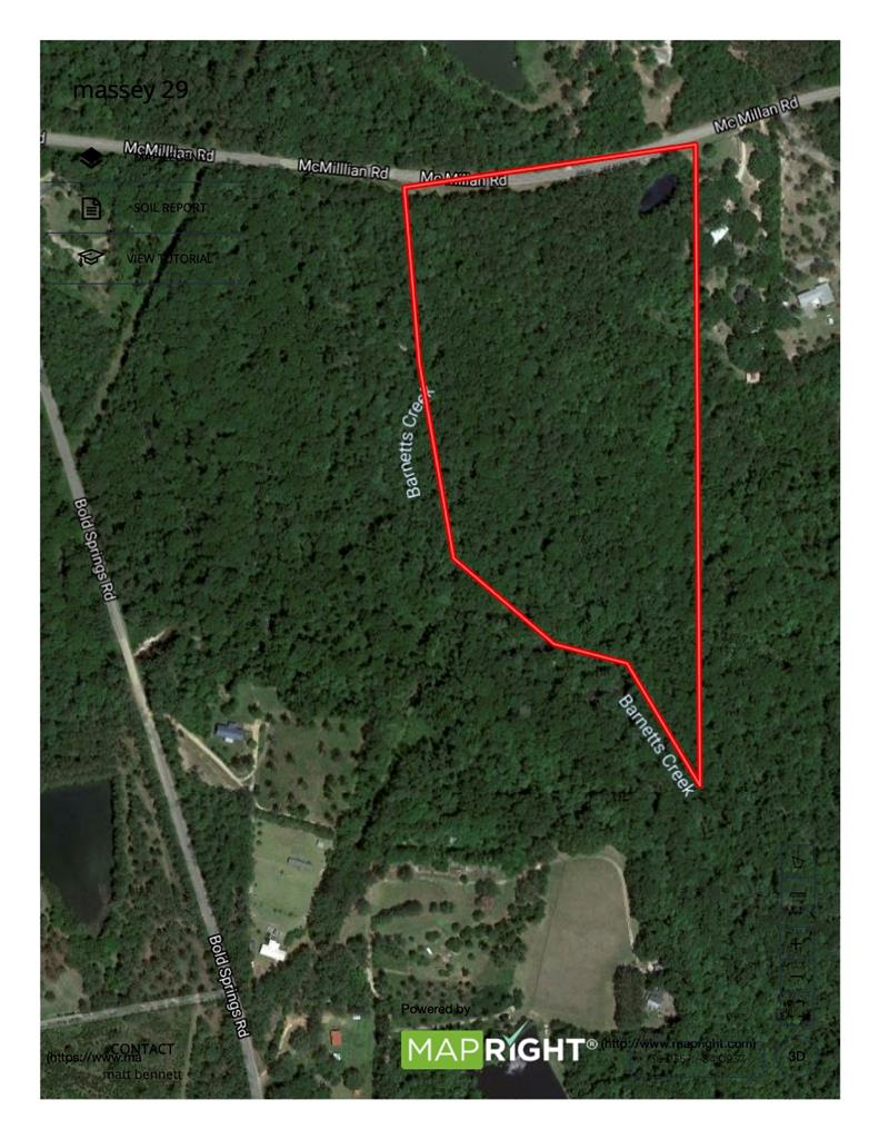 Nice wooded tract located in Thomas County. Paved road frontage on McMillan Rd with creek frontage on Barnetts Creek. Lots of character and topography. Would make a beautiful home site.