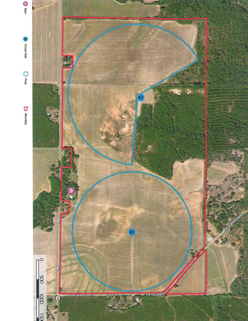 """Income producing farm in Garden Valley. Total of 419 acres with 285 acres irrigated, 90 acres of dry land, and 44 acres in good timber. Improvements include barn, two 12"""" permitted wells. one 4"""" well, 2 pivots and two diesel pumpilng units. Highly productive farm with great yield history."""