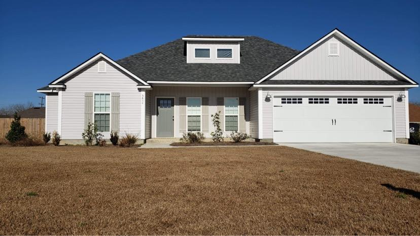 Very nice recently constructed home in North Lowndes County in Cul-De-Sac. 4Bdrm/2Ba on a half acre lot near moody air force base. This Home has an open living area with coffered ceilings and features custom cabinets and lots of special details that you will fall in love with. This open/split floor plan has lots of windows for natural light. The Kitchen Features island bar, refrigerator, pantry, electric Stove, Microwave and Dishwasher. The Main Bedroom Suite features a Trey Ceiling and a large walk in Closet W/ Custom Shelving that wraps around from the bedroom into the bathroom that boast dual vanities, a garden tub, shower, & large linen closet. The guest bath has dual vanities also with a pocket door and All of the other bedrooms have Walk-in closets with built-in shelving. The home has a great private wood fenced-in back yard. The home is located 3 Minutes from Moody air force base.