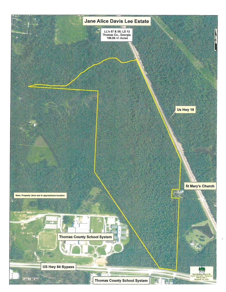 Super development potential property!! 2800+/- feet frontage on Hwy 19 and300+/- feet frontage on Hwy 84-319 Bypass. Adjoins Thomas County School System Property. Please call the listing agent for showing information.