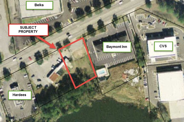 Excellent commercial tract across from Gateway Shopping Center and next to Ellianos Coffee. High traffic count, 100 feet of frontage on Remington Ave. Owners motivated. Vacant parcel - Ready to be developed.  #905890  $299,000